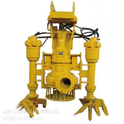 水上清道夫液压泥浆泵 挖掘机渣浆泵 河道清淤泵现场