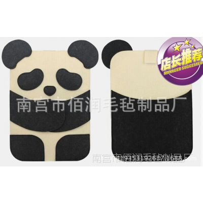 专业厂家直供2013新款热卖彩色卡通平板化纤羊毛毡电脑包 热卖