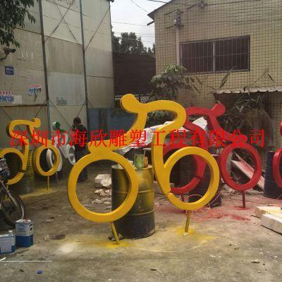 骑自行车雕塑玻璃钢人物体育学校运动校园竞技题材抽象户外定做