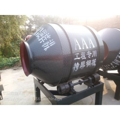 西昌天旺600型四轮摩擦驱动小滚筒拌料机