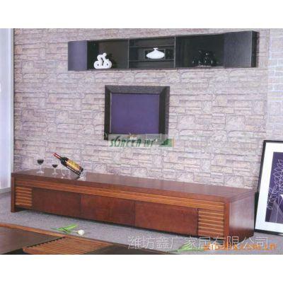 客厅电视柜 潍坊家具厂供应 家庭装饰画用电视橱 背景墙 可定做