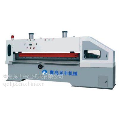 龙丰机械 青岛细木工板裁板机 木皮裁切机