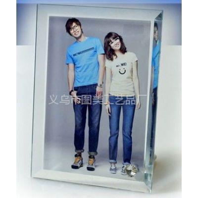 供应热转印玻璃原材料 免相框照片摆设 热转印创意水晶玻璃耗材圆边