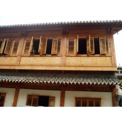 供应纯手工雕刻工艺 木格子门窗 古典门窗 大门