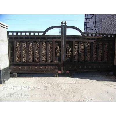 铁艺大门尺寸,铁艺大门,世通铁艺
