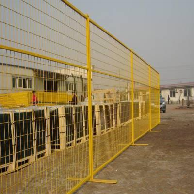 菜市场摊位隔离 黄色防护网 可移动隔离网