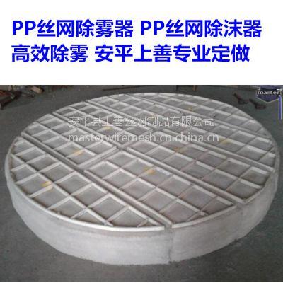 脱硫水汽过滤丝网分块式除沫器pp聚丙烯耐酸碱 安平上善定做