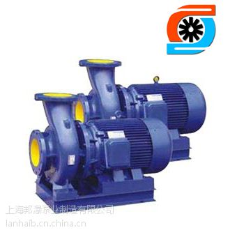 供应上海邦瀑铸铁管道泵 ISWR100-125 卧式管道泵 热水离心泵