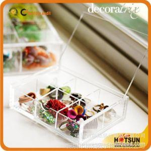 供应有机玻璃制品 透明亚克力珠宝盒 名片盒 糖果盒