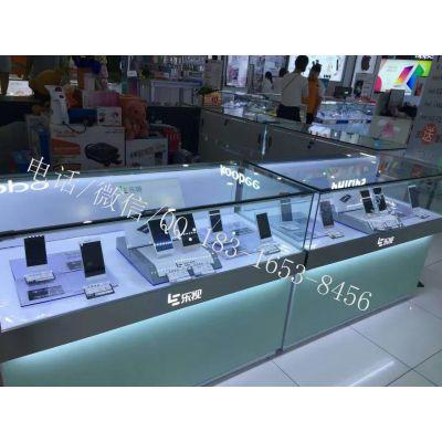 乐视手机展示柜台价格 吉林九台木纹烤漆体验柜 三星华为手机柜台批发