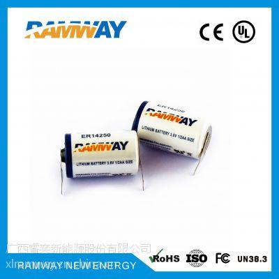 厂家直销睿奕ramwayER14250锂亚柱式电池3.6VETC收费专用锂电池
