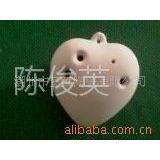 供应陶瓷风铃 美劳教学风铃 心型陶笛 DIY陶瓷风铃