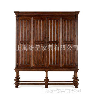 定制衣柜实木美式衣柜四门大衣柜美式实木衣柜四门美式衣柜