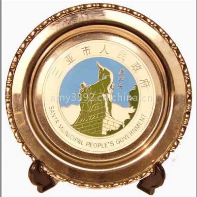 周年庆企业纪念奖盘铜盘厂家直销 定做金属奖盘免费设计 北京纪念盘销售