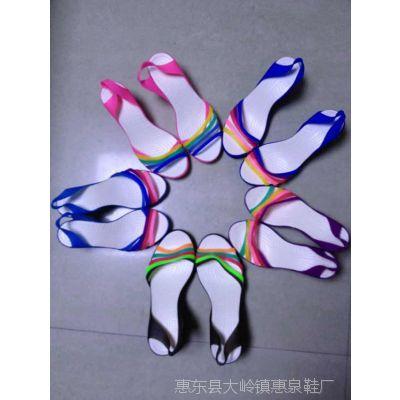 2014新夏季撞色女沙滩鞋透明PUR质量好水晶彩带鞋女高跟女凉鞋
