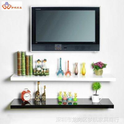 供应电视墙壁置物架 书房移动式壁架置物 一字创意壁架装饰架