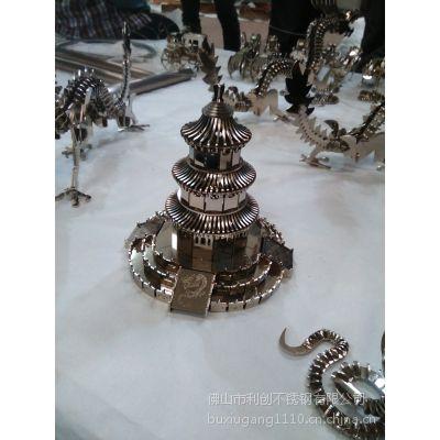 供应镀铜复古工艺不锈钢宝塔 不锈钢工艺品加工批发厂家