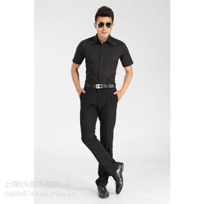 比伦黑色衬衫供应 男式职业装BL-SC19