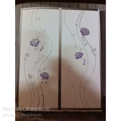 沙河佳汇厂家批发超白烤漆冰花衣柜门玻璃