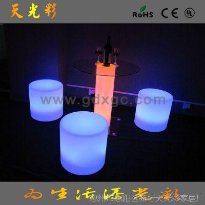 深圳民用家具展新品LED茶几 60CM发光家具 休闲LED家具可变色