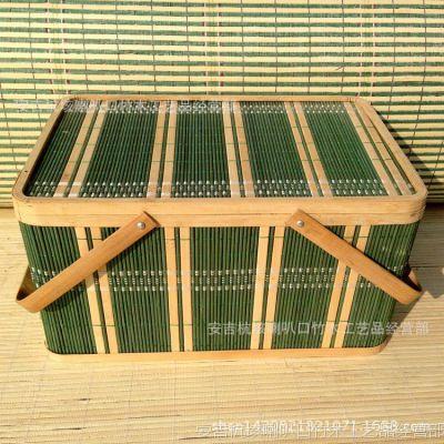 厂家直销 环保 长方形土鸡蛋竹篮 水果竹篮 各种款式包装可定做
