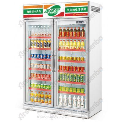雅绅宝SG12L2F立式两门保鲜柜 便利店两门整机冷柜 风冷饮料冷藏展示柜
