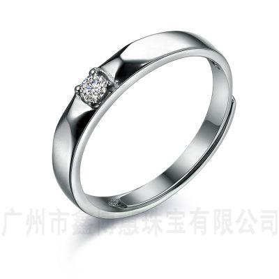 广州大学毕业戒指925纯银情侣对戒男女对戒银饰品