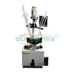 供应单层玻璃反应釜DGN-2L/玻璃反应釜厂家 搅拌棒:¢6-8mm弧片式