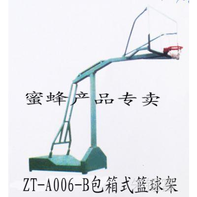 批发零售标准包箱式家用室外移动单臂钢化玻璃篮板篮球架A006