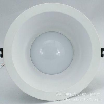 供应厂家批发 led天花筒灯12w15w6寸 白色pc阻燃家居家装灯饰