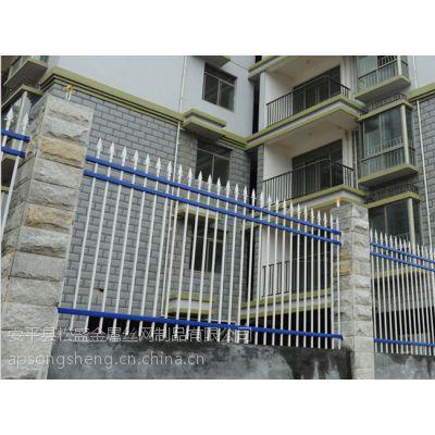 供应包头锌合金栅栏 锌合金喷塑学校围栏 榆林锌合金围墙栅栏
