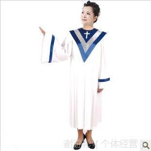 供应基督教诗班圣服长袖北京游彬之家圣诗袍圣诗服教会服装热销A007