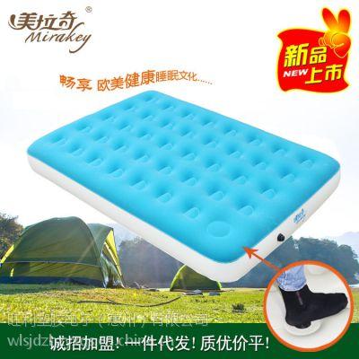 OEM厂家定制PVC植绒沙发床垫 充气沙发户外折叠沙发气垫床