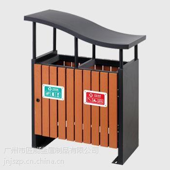 广州垃圾桶厂家供应匠能JNJS-003唐木不锈钢户外垃圾桶