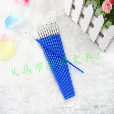厂家热卖 尼龙毛尖头画笔 儿童画笔 高中档油画笔 毛笔笔刷