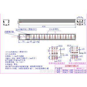 供应突破PDU 八联10A万用孔 双断开关 指示灯 07N21NS-0001 指示灯