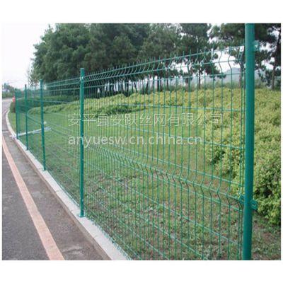 绿色围墙护栏网,钢丝浸塑喷涂,围网栏杆