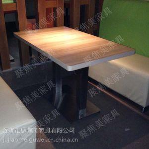 供应家具茶餐厅餐桌椅定做 防火板餐桌深圳聚焦美家具定做