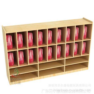 BEK38-YS18-2 原木色书包鞋子多功能组合木柜