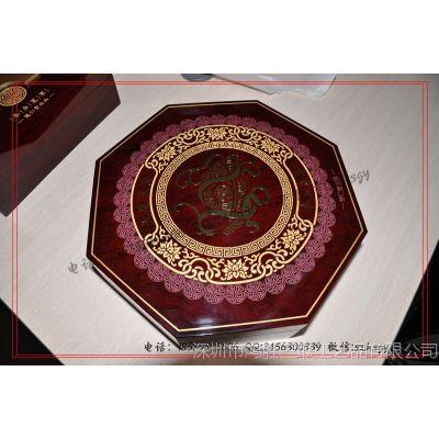 【厂家】樊仁堂八角形高光油漆燕窝木包装盒 高光木质燕窝包装盒