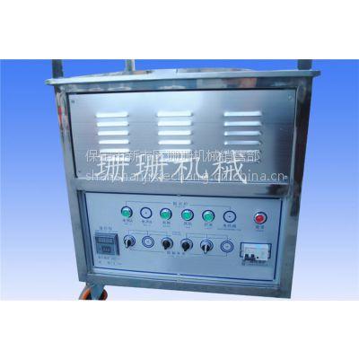 电瓶气加热炒货机25斤栗子-不锈钢机身静音230W电机板栗机