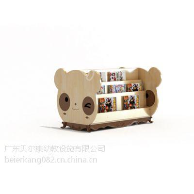 贝尔康 熊猫书架 趣味书柜 幼儿园图书室专用书柜 造型书架