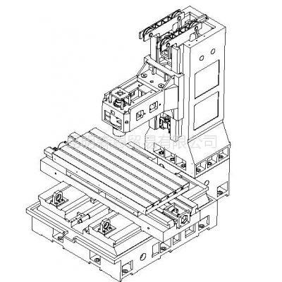 供应台正立式加工中心光机TOM-1580工作台面尺寸 800*1700