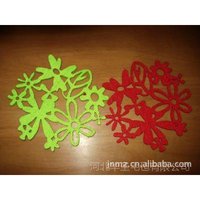 生产激光雕刻水果图案毛毡杯垫,毛毡餐垫【图】
