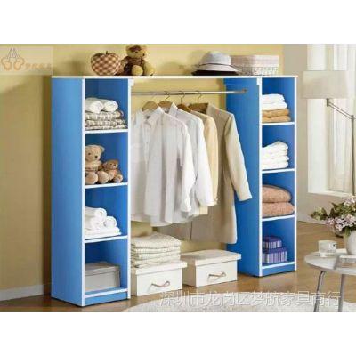 供应简易衣柜 宜家风格儿童衣柜特价衣橱现代简易衣架简单板式家具