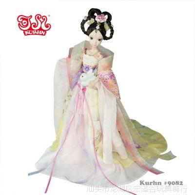 可儿娃娃嫦娥奔月古装衣服关节体儿童女孩生日芭比礼物洋娃娃玩具