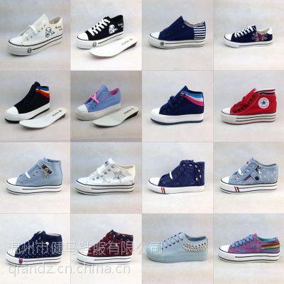 8元低价鞋子批发人本品牌松糕跟断码杂款帆布鞋库存鞋处理