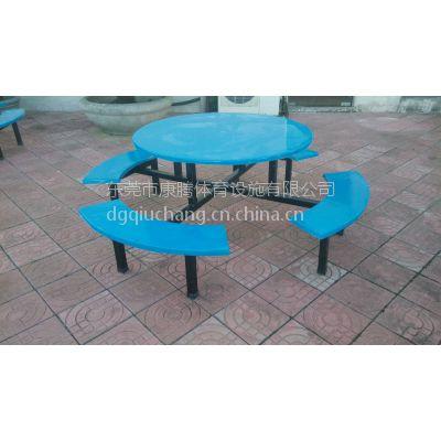 供应六人位圆桌半月形凳玻璃钢餐桌 创意玻璃钢餐桌 厂家直销