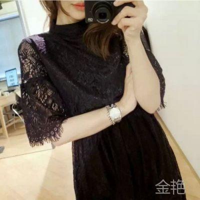 15春韩国进出口东大门原单气质蕾丝束腰打底裙连衣裙16-306-715