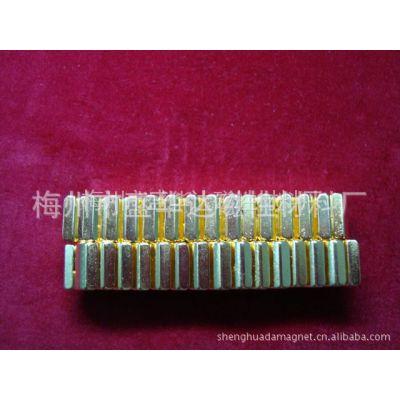 供应(R10-R8)*14*12钕铁硼N35镀金磁瓦